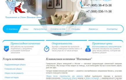 """Клининговая компания """"Настенька"""""""